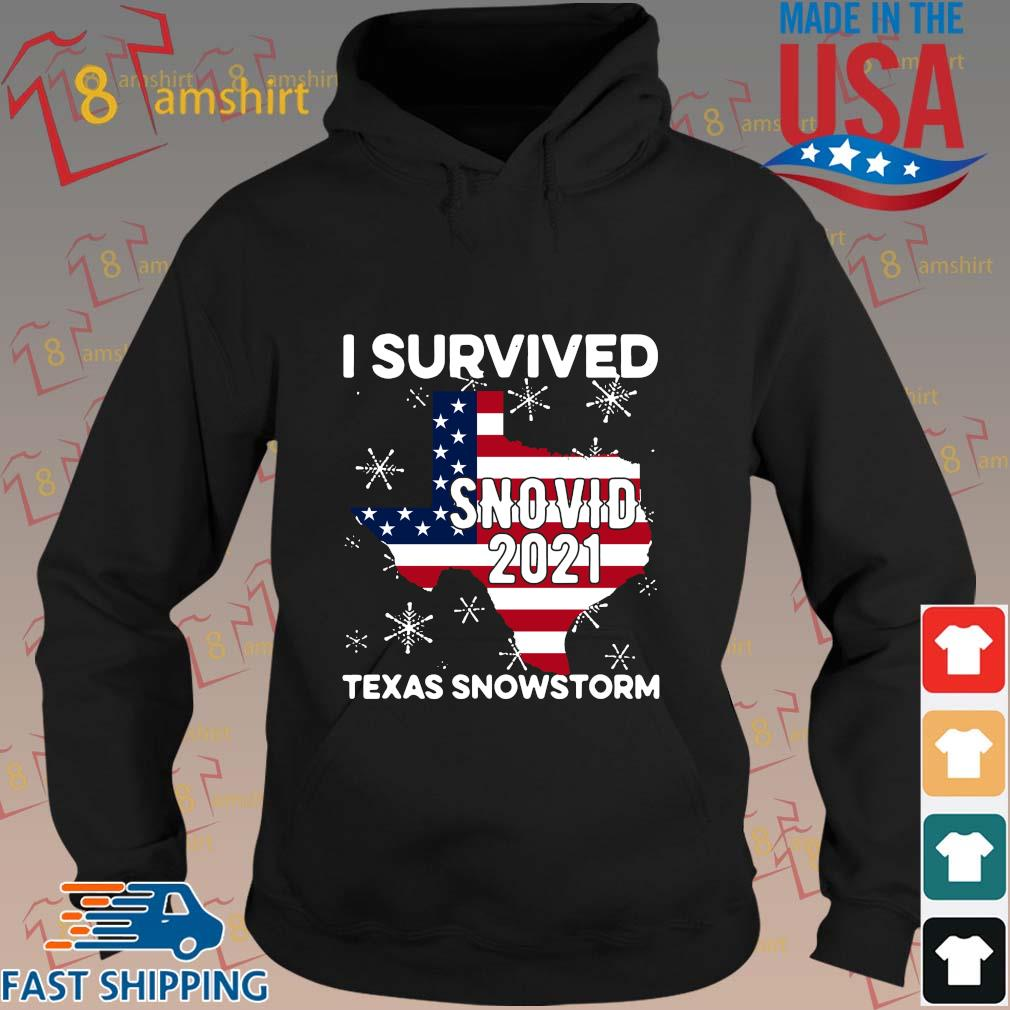 American flag I survived snovid 2021 Texas snowstorm s hoodie den