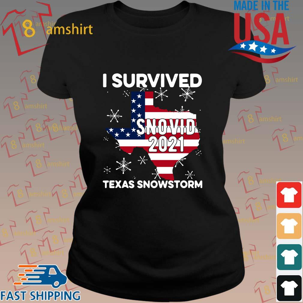 American flag I survived snovid 2021 Texas snowstorm s ladies den