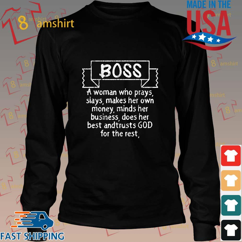 Boss a woman who prays slays makes her own money minds her business s Long den