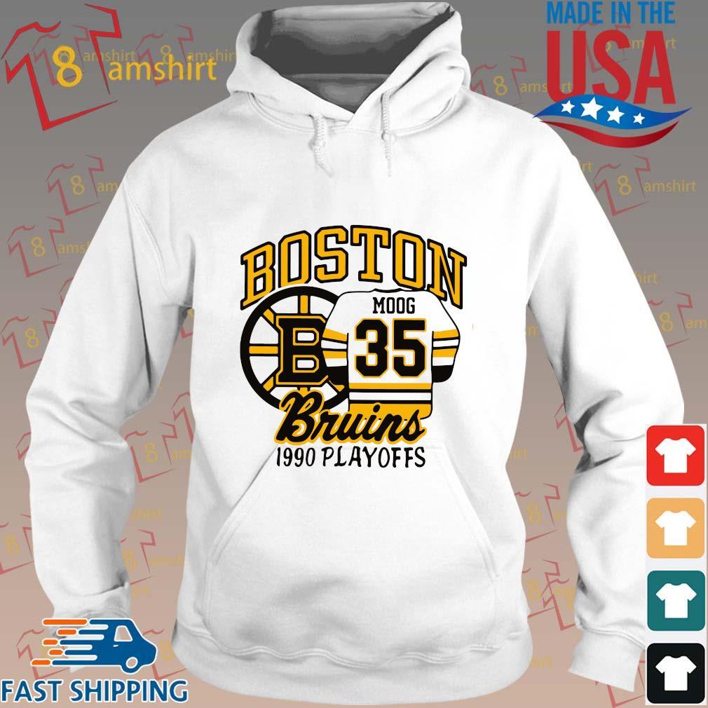 Boston Moog bruins 1990 playoffs s Hoodie trang