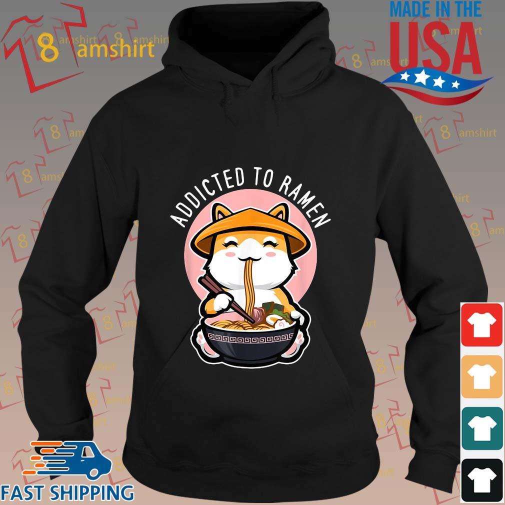 Cat eating addicted to ramen s hoodie den