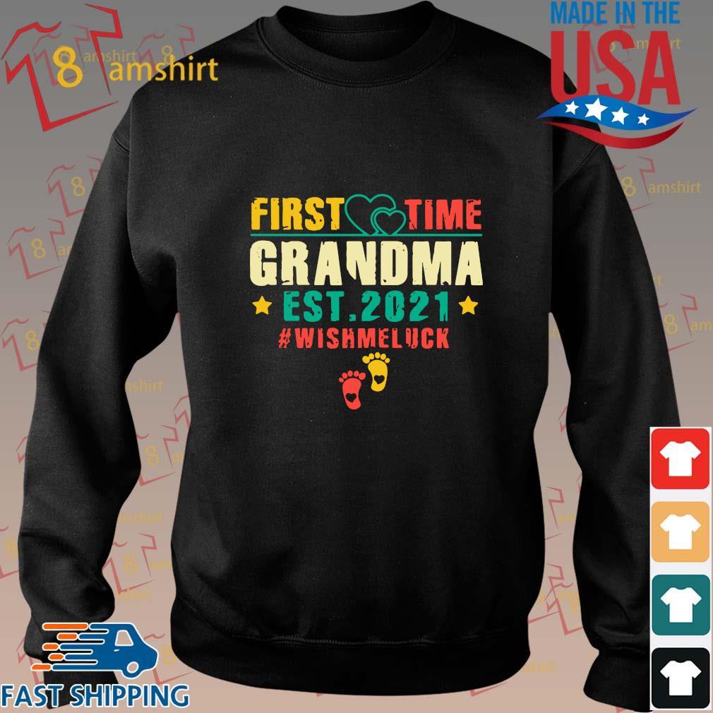 First time grandma est 2021 #Wishmeluck vintage s Sweater den
