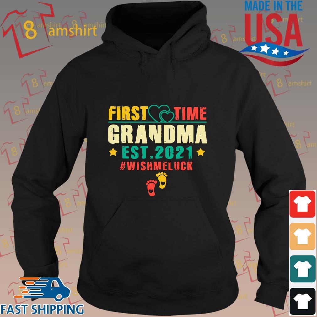 First time grandma est 2021 #Wishmeluck vintage s hoodie den