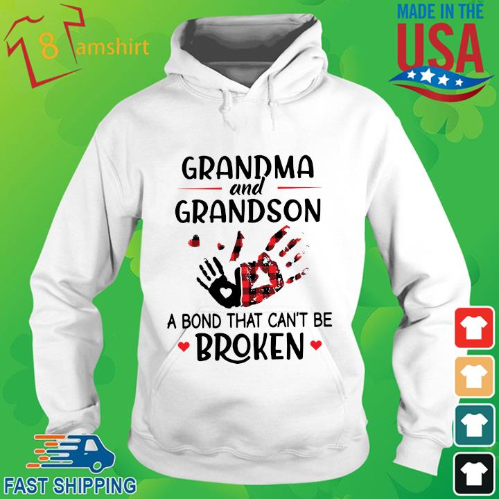 Grandma and grandson a bond that can't be broken hoodie trang