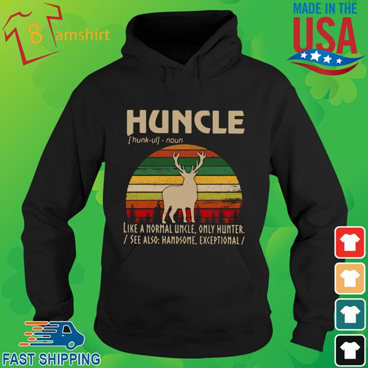 Huncle like a normal uncle only hunter vintage sunset hoodie den