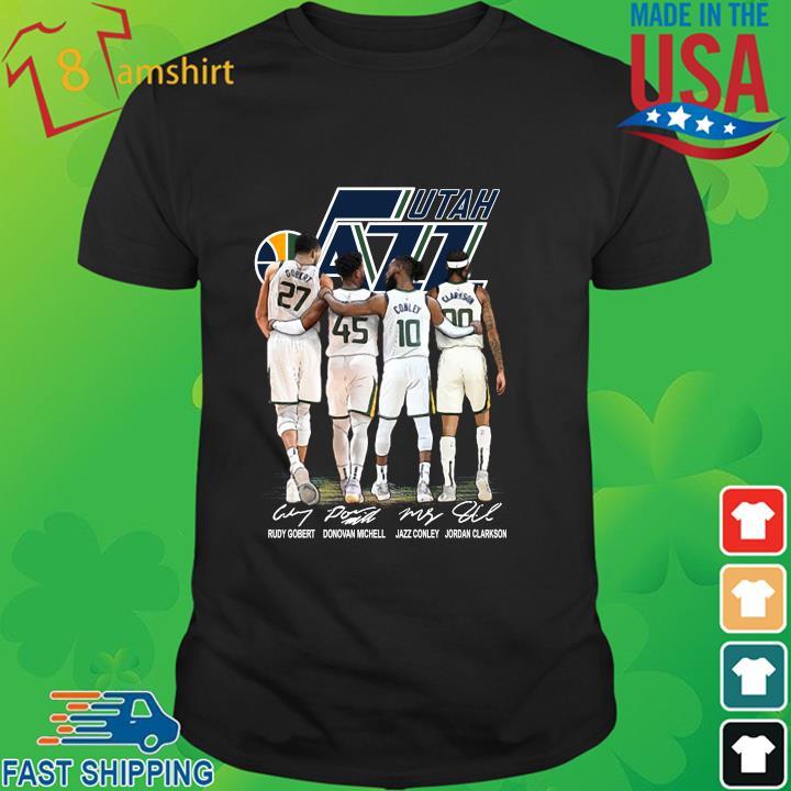 Utah Jazz Rudy Gobert Donovan Mitchell signatures shirt