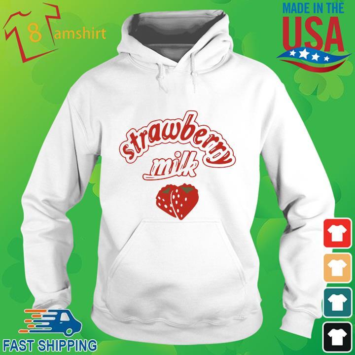 Strawberry milk hoodie trang