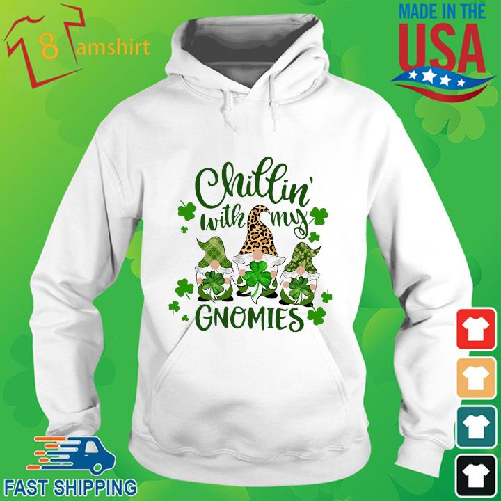 Three Gnomes chillin' with my Gnomies St Patrick's Day hoodie trang