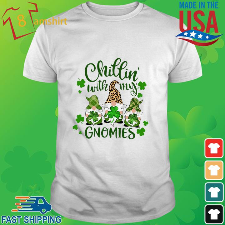 Three Gnomes chillin' with my Gnomies St Patrick's Day shirt