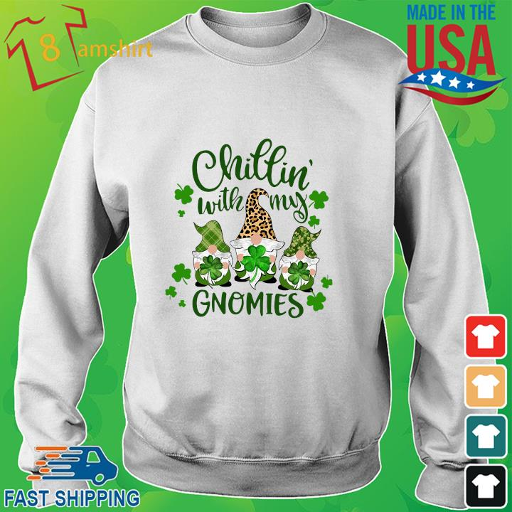 Three Gnomes chillin' with my Gnomies St Patrick's Day sweater trang