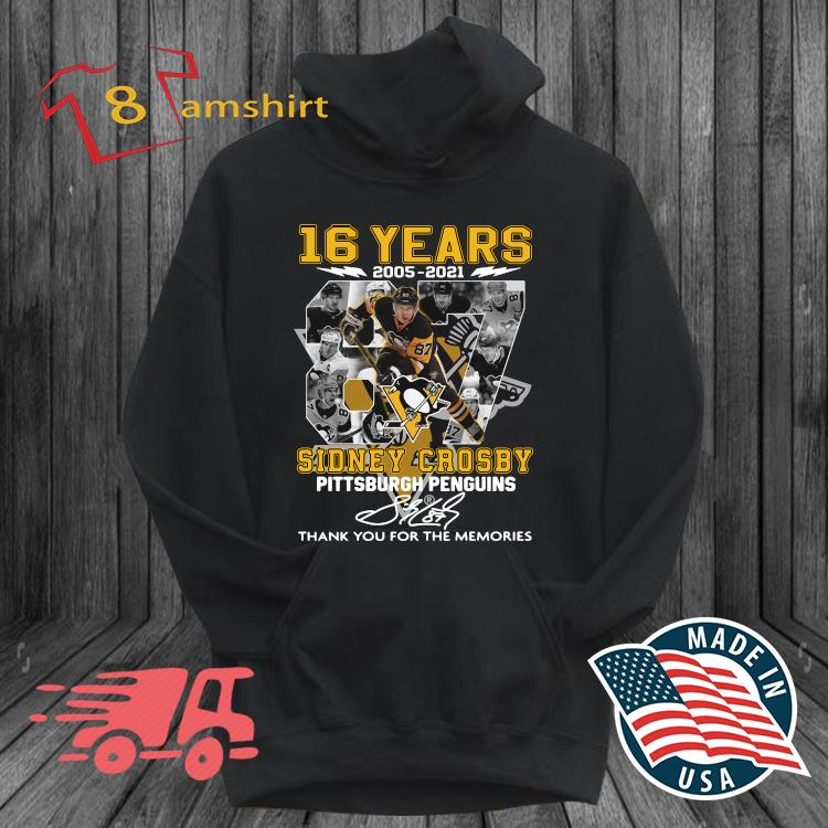16 years 87 Sidney Crosby Pittsburgh Penguins thank you for the memories signature s hoodie den