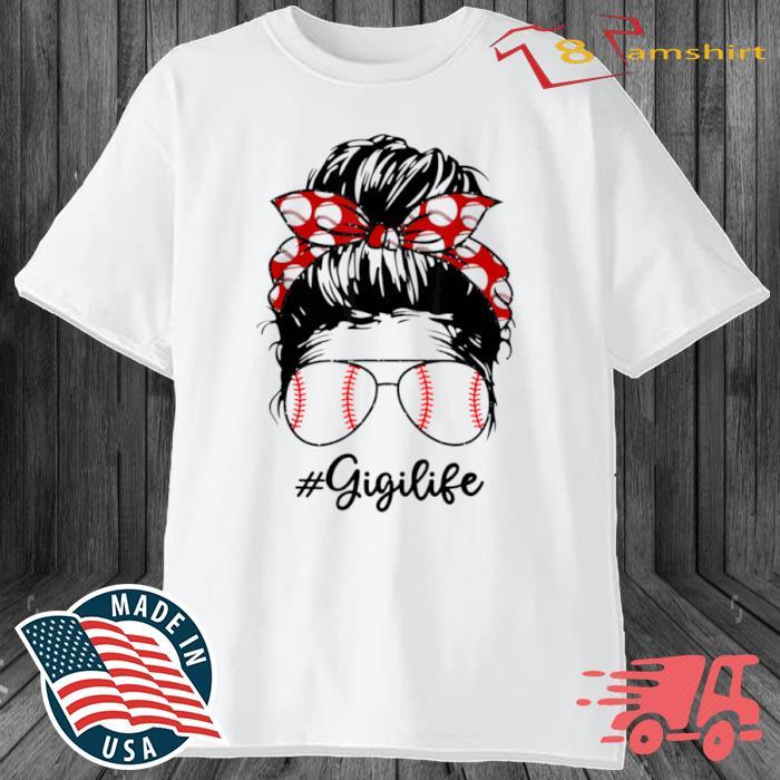 Bun Hair Softball Guigi Lifes With Sunglasses Shirt