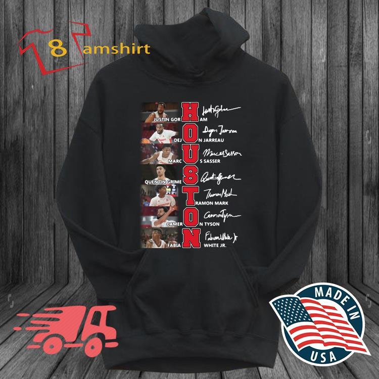 Houston Cougars Teams Basketball Signatures Shirt hoodie den