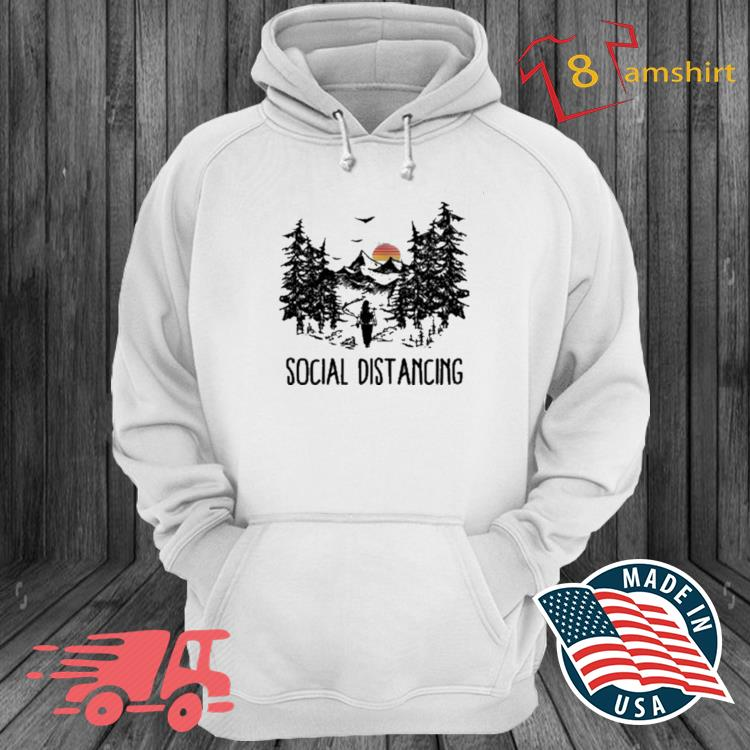 Social Distancing Camping Hiking Outdoors Shirt hoodie trang
