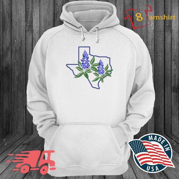 Texas Bluebonnet Wildflowers Shirt hoodie trang