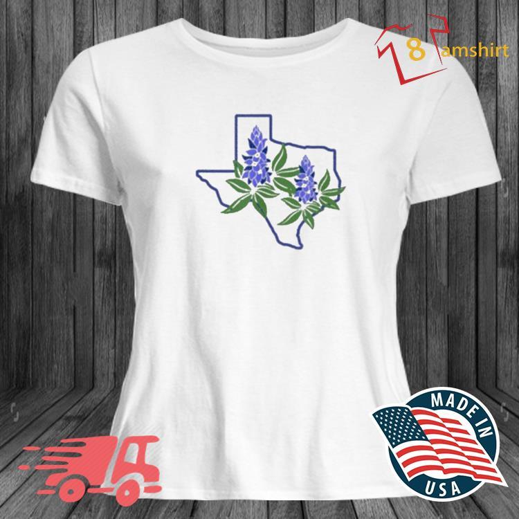 Texas Bluebonnet Wildflowers Shirt ladies trang