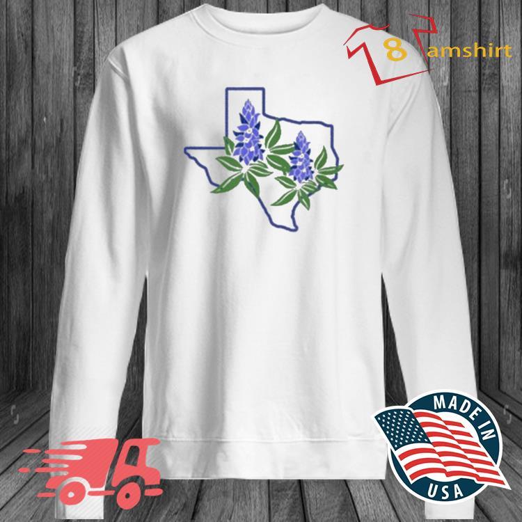 Texas Bluebonnet Wildflowers Shirt long sleeve trang