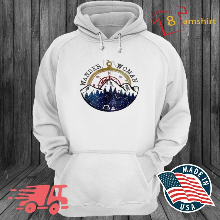 Wander Woman Exploring Go Outside Camping Hiking Shirt hoodie trang