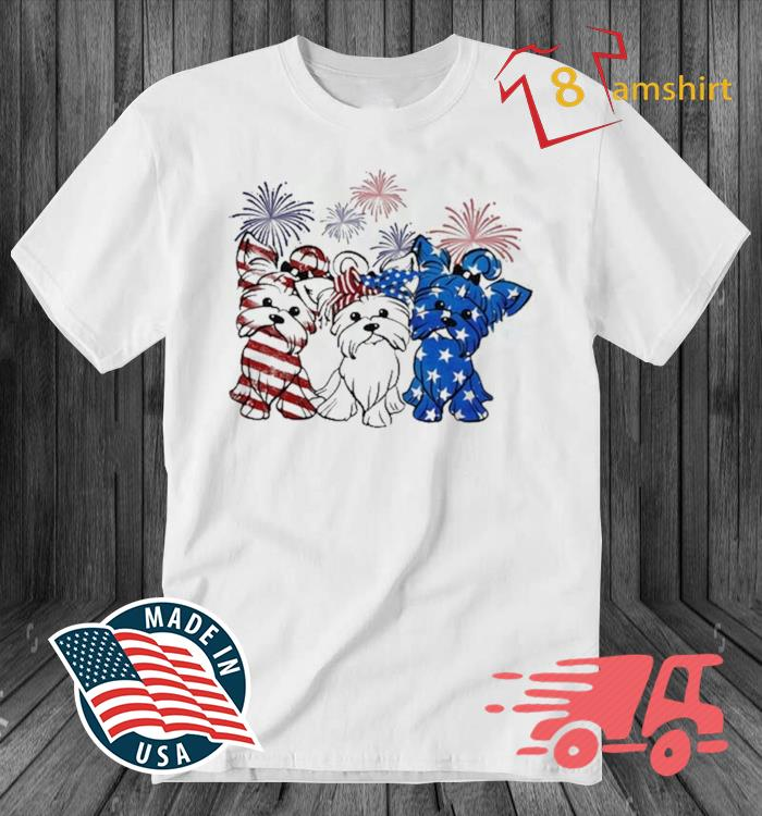 Yorkshire Terrier Flag Colors Yorkie Lovers Shirt