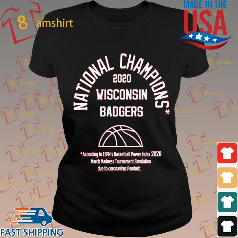 2020 National Champions Wisconsin Badgers Shirt ladies den
