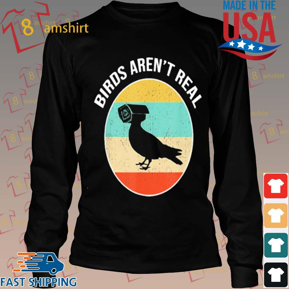 Birds Arent Real Vintage Shirt Long den