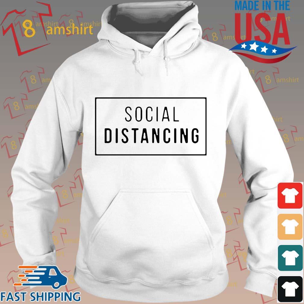 Buy Social Distancing Shirt Hoodie trang