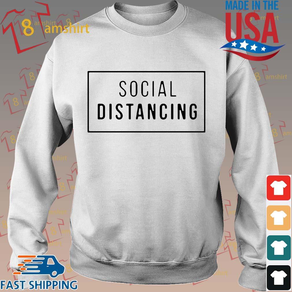 Buy Social Distancing Shirt Sweater trang