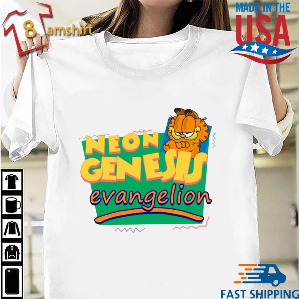 Neon Genesis Evangelion Meets Garfield And Friends Shirt Sweater Hoodie And Long Sleeved Ladies Tank Top