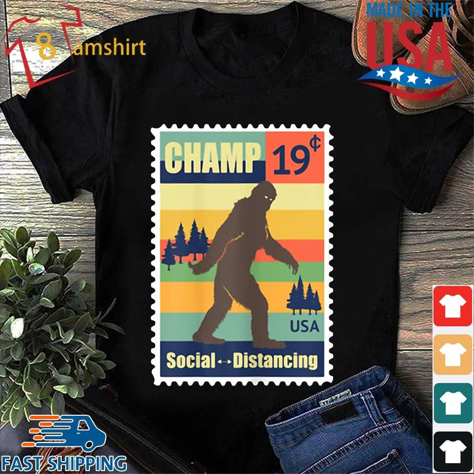 _Social Distancing Champ Bigfoot Stamp 2020 Vintage Shirt