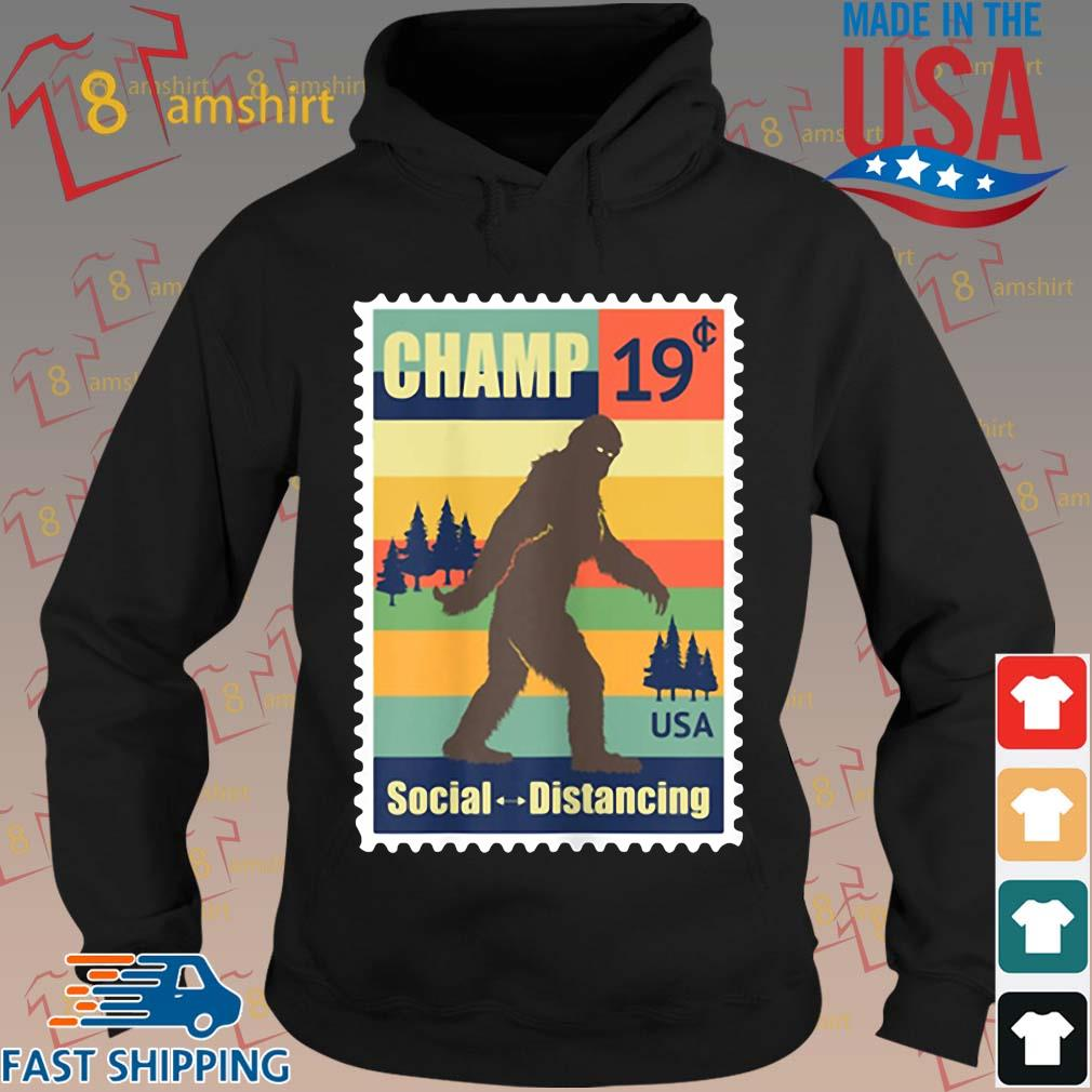 _Social Distancing Champ Bigfoot Stamp 2020 Vintage Shirt hoodie den