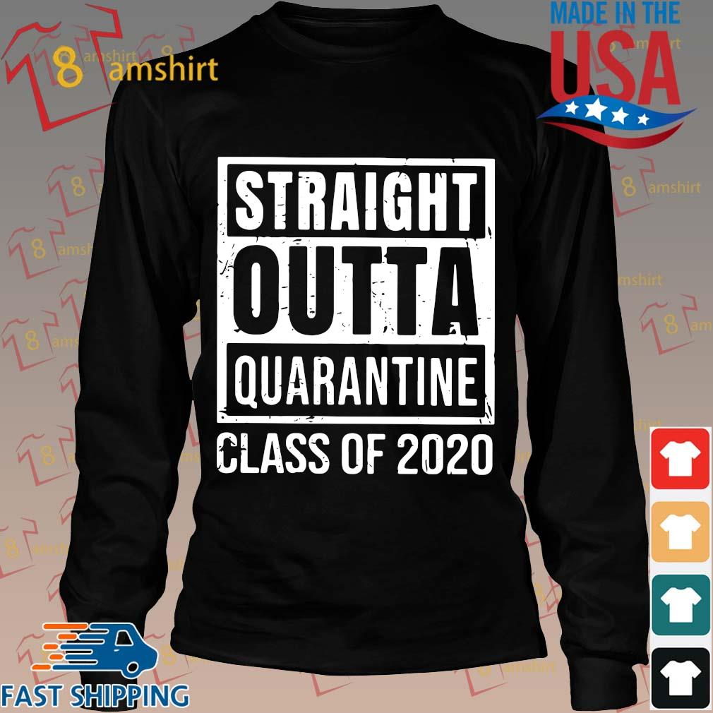 Straight Outta Quarantine Class Of 2020 Distressed Classic Shirt Long den