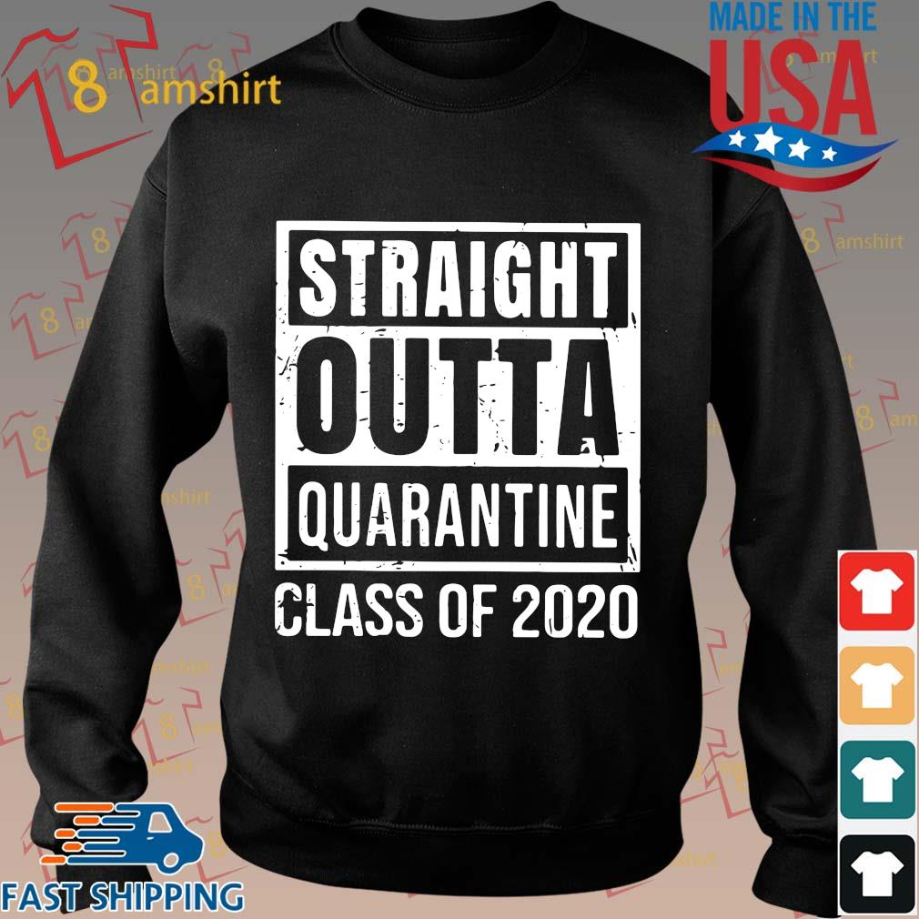 Straight Outta Quarantine Class Of 2020 Distressed Classic Shirt Sweater den