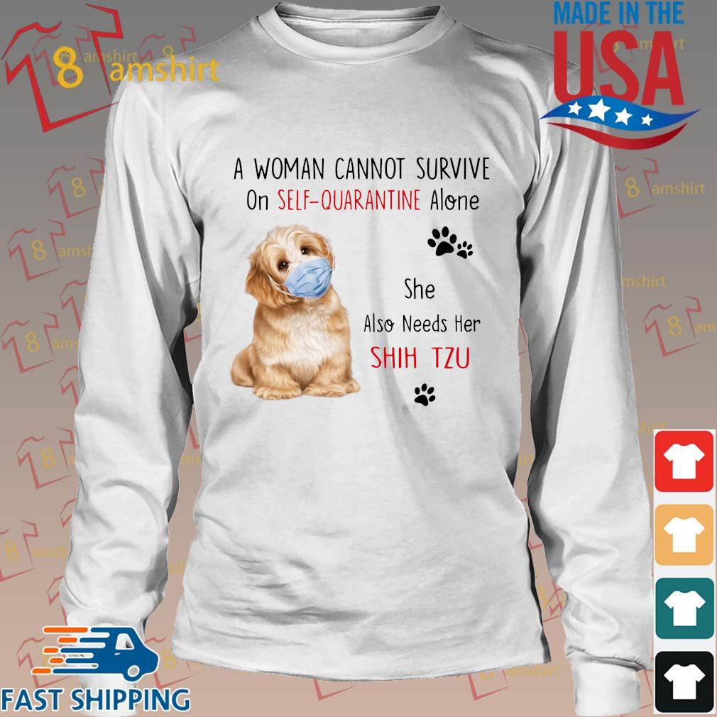 A Woman Cannot Survive On Wife Needs Golden Retriever T Shirt Grey Ladies S-3XL