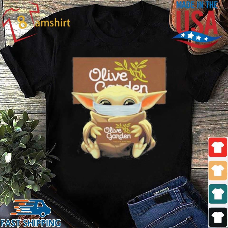 Baby Yoda Mask Hug Olive Garden T-Shirt