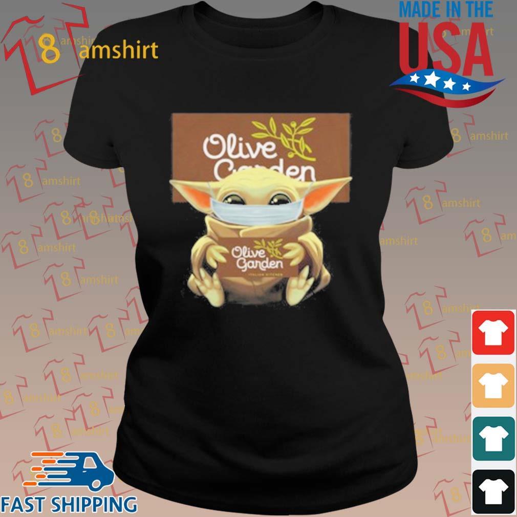 Baby Yoda Mask Hug Olive Garden T-Shirt ladies den