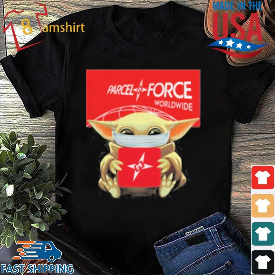Baby Yoda Mask Hug Parcelforce Worldwide T-Shirt