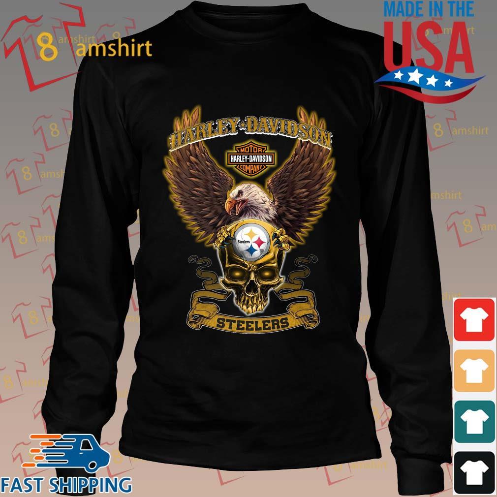 Harley Davidson Skull Pittsburgh Steelers Shirt Long den