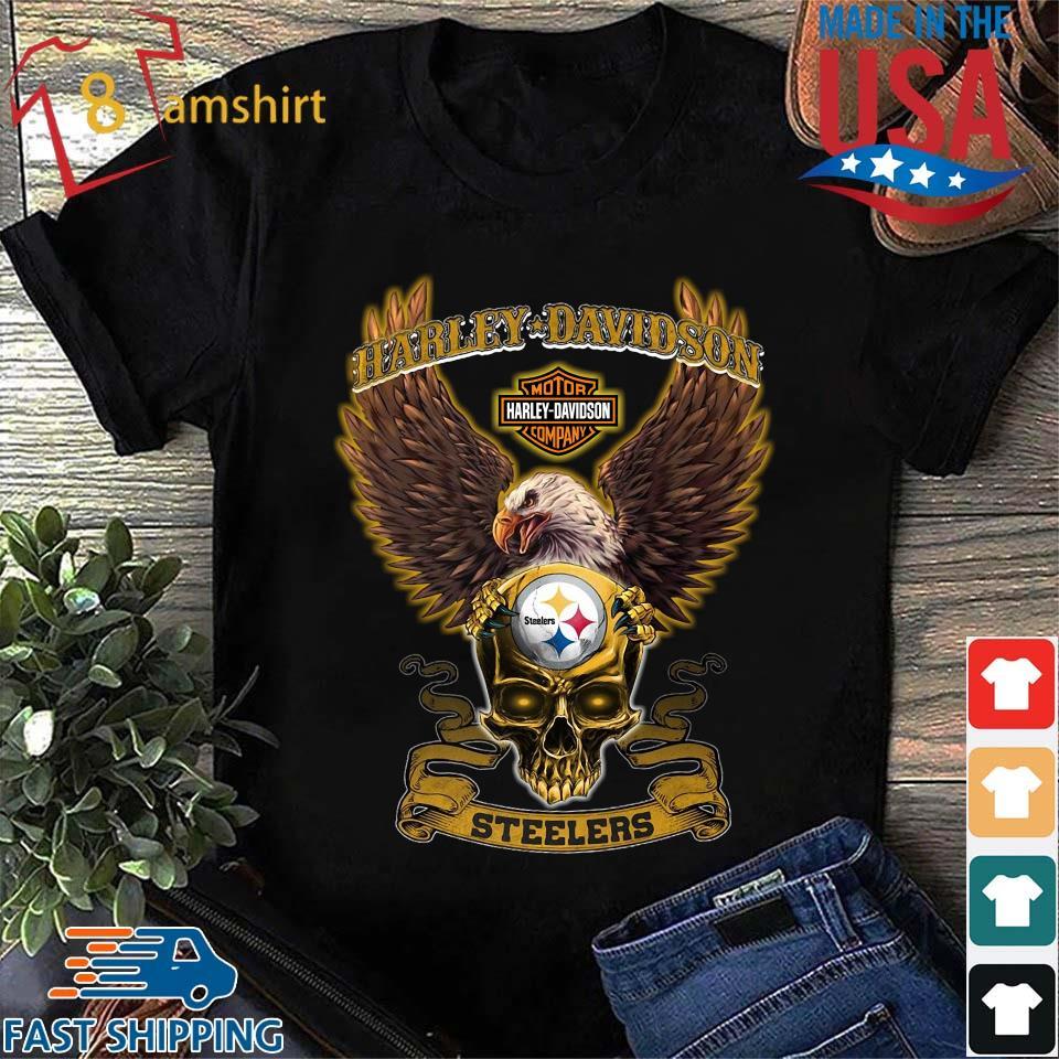 Harley Davidson Skull Pittsburgh Steelers Shirt