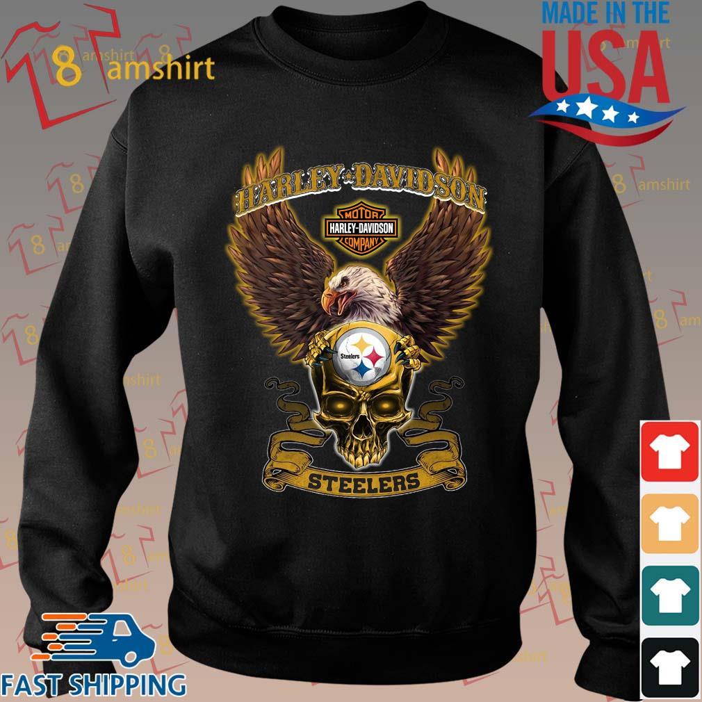 Harley Davidson Skull Pittsburgh Steelers Shirt Sweater den