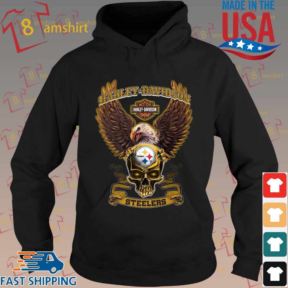 Harley Davidson Skull Pittsburgh Steelers Shirt hoodie den