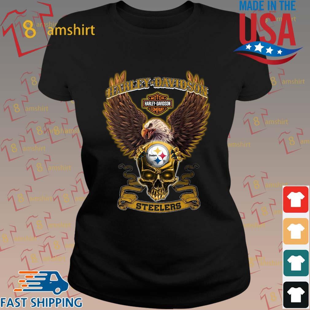 Harley Davidson Skull Pittsburgh Steelers Shirt ladies den