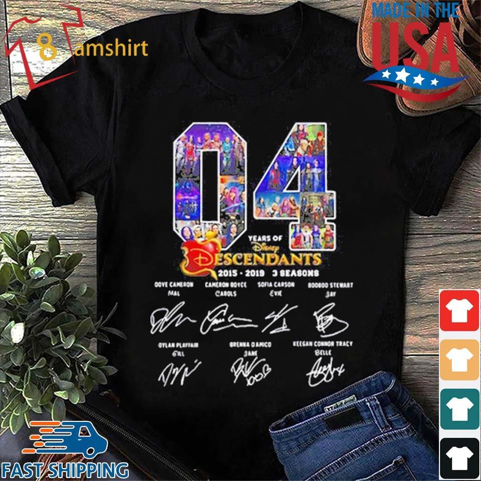 04 Years Of The Descendants 2019-2019 3 Seasons Signatures shirts