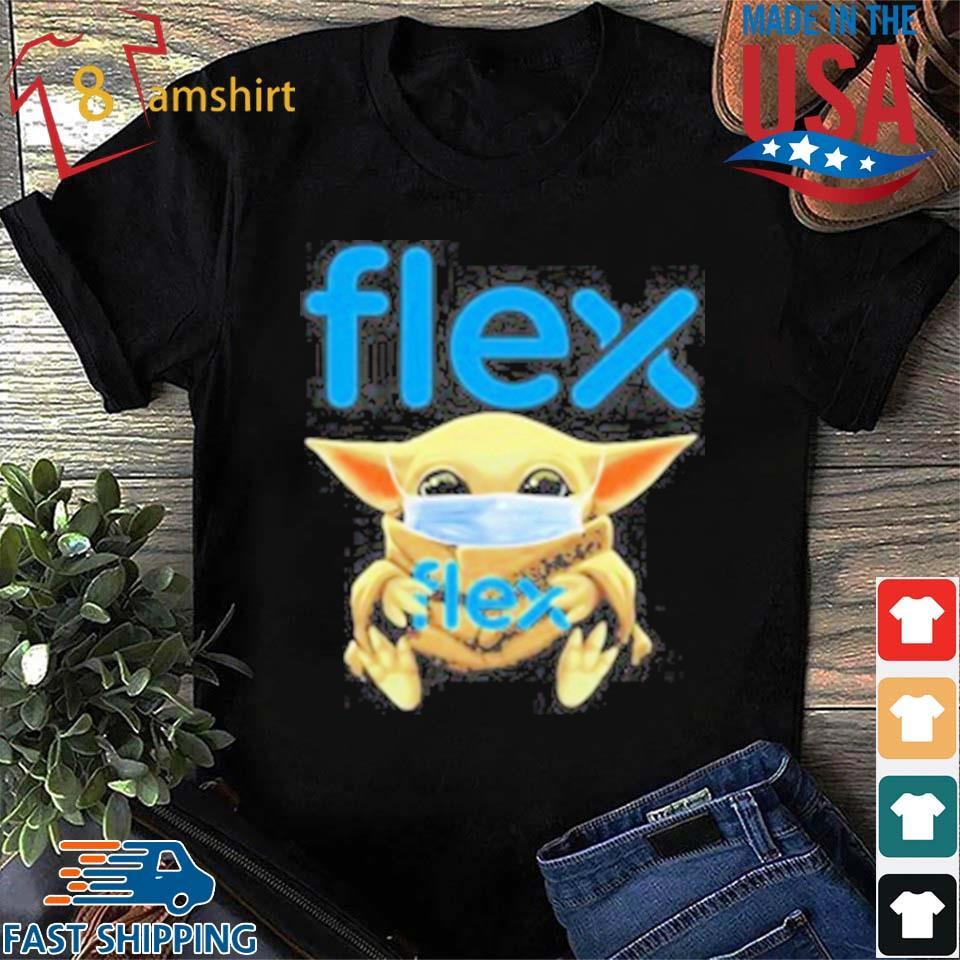 Baby Yoda Face Mask Hug Flex T-Shirt