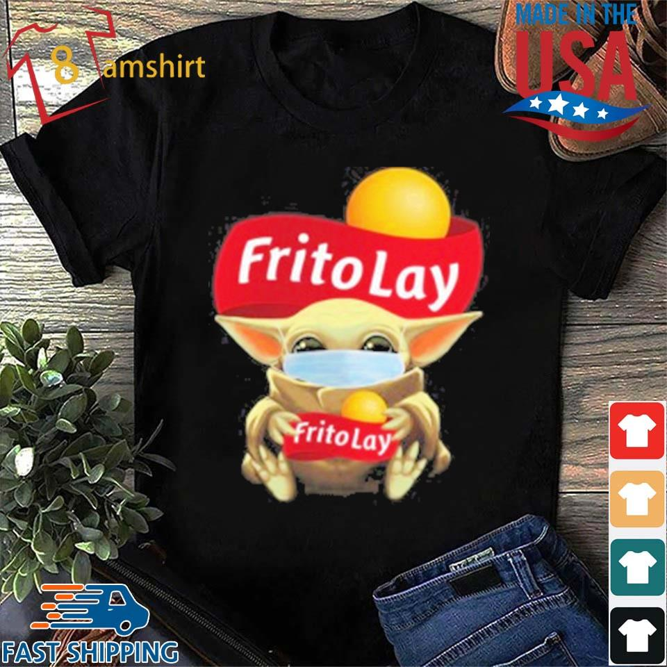 Baby Yoda Face Mask Hug Frito Lay T-Shirt