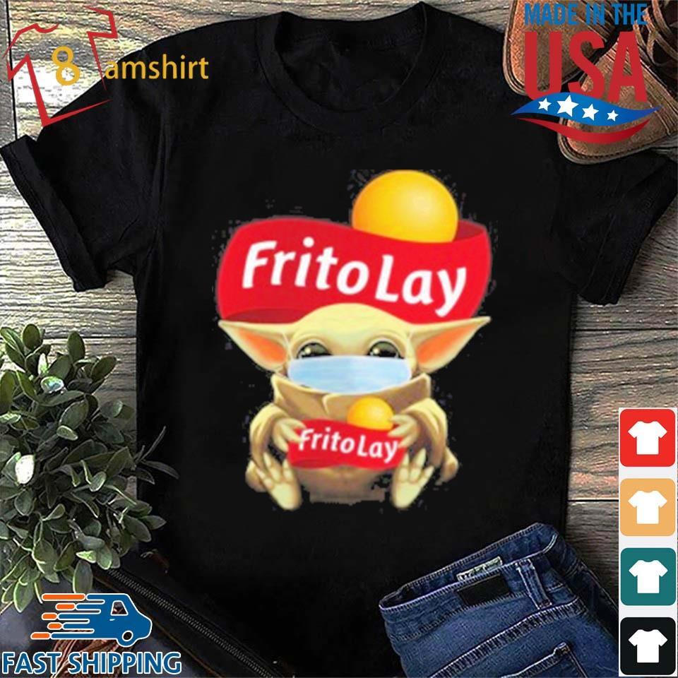 Baby Yoda Face Mask Hug Frito Lay T-Shirt