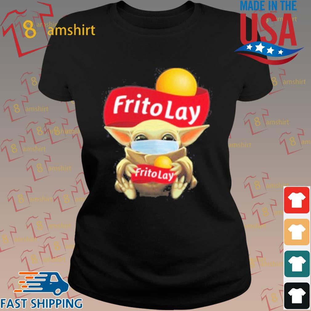 Baby Yoda Face Mask Hug Frito Lay T-Shirt ladies den