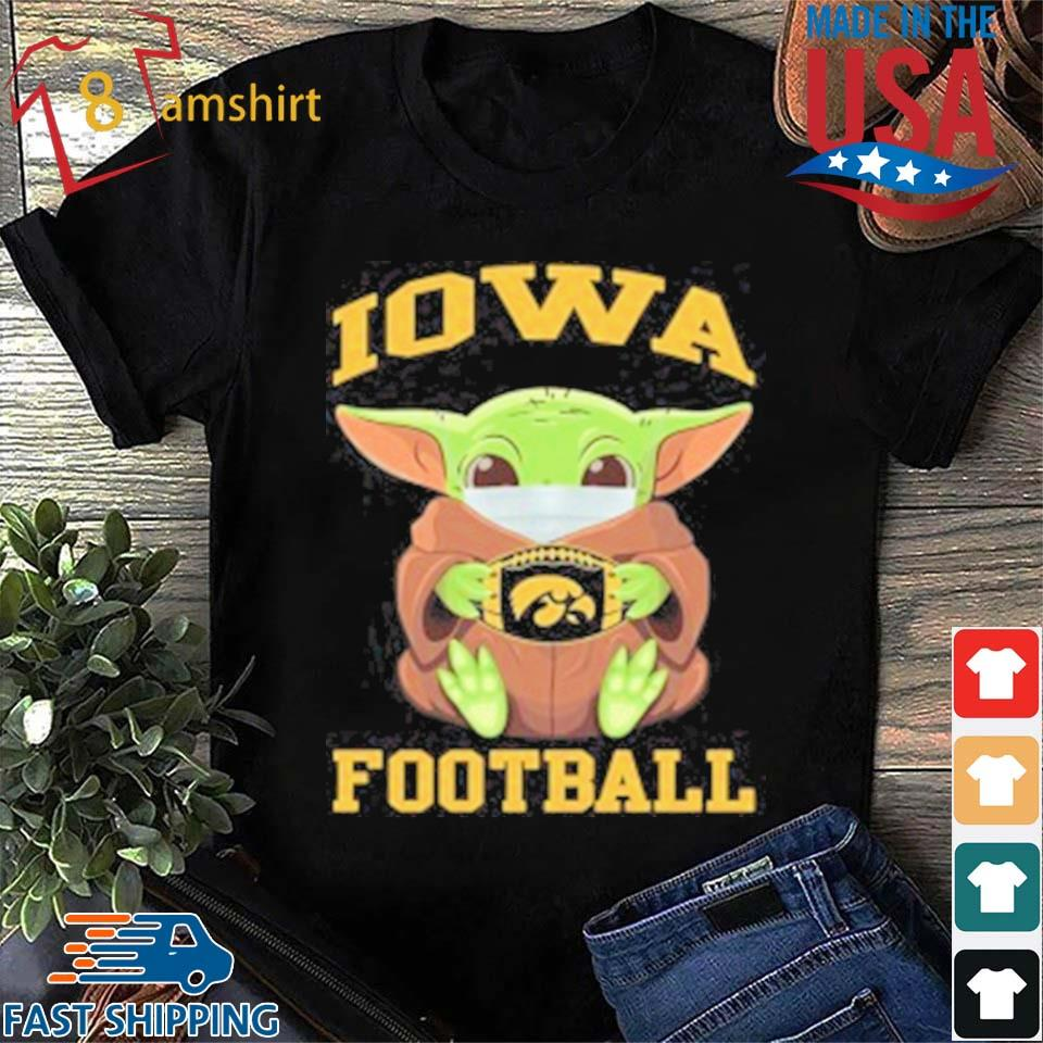 Baby Yoda Face Mask Hug Lowa Football T-Shirt