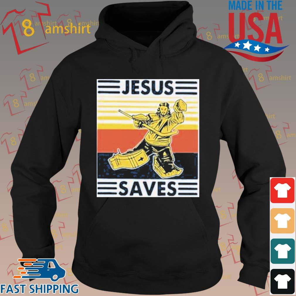 Jesus Saves Hockey Premium Youth Sweatshirt Hoodie