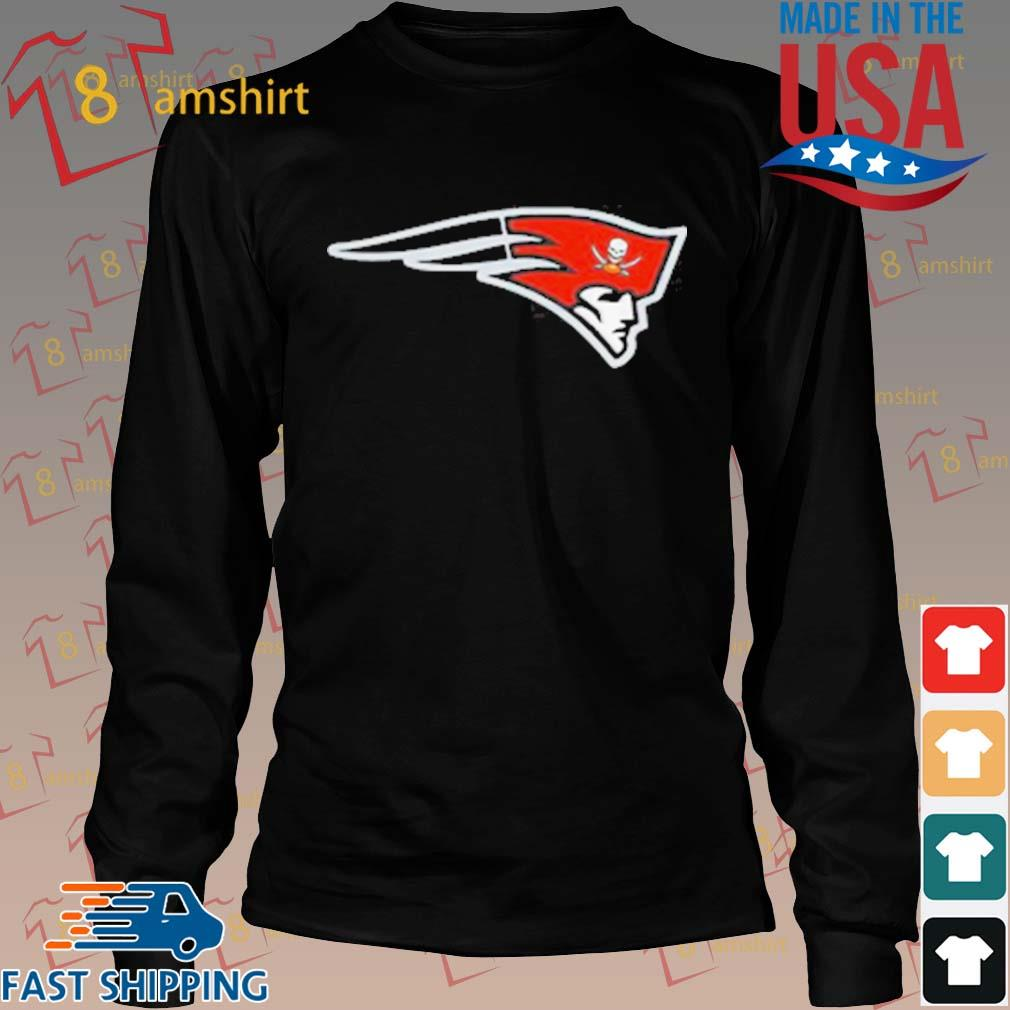 New England Patriot Tampa Bay Buccaneers Release New Logo T-Shirt Long den