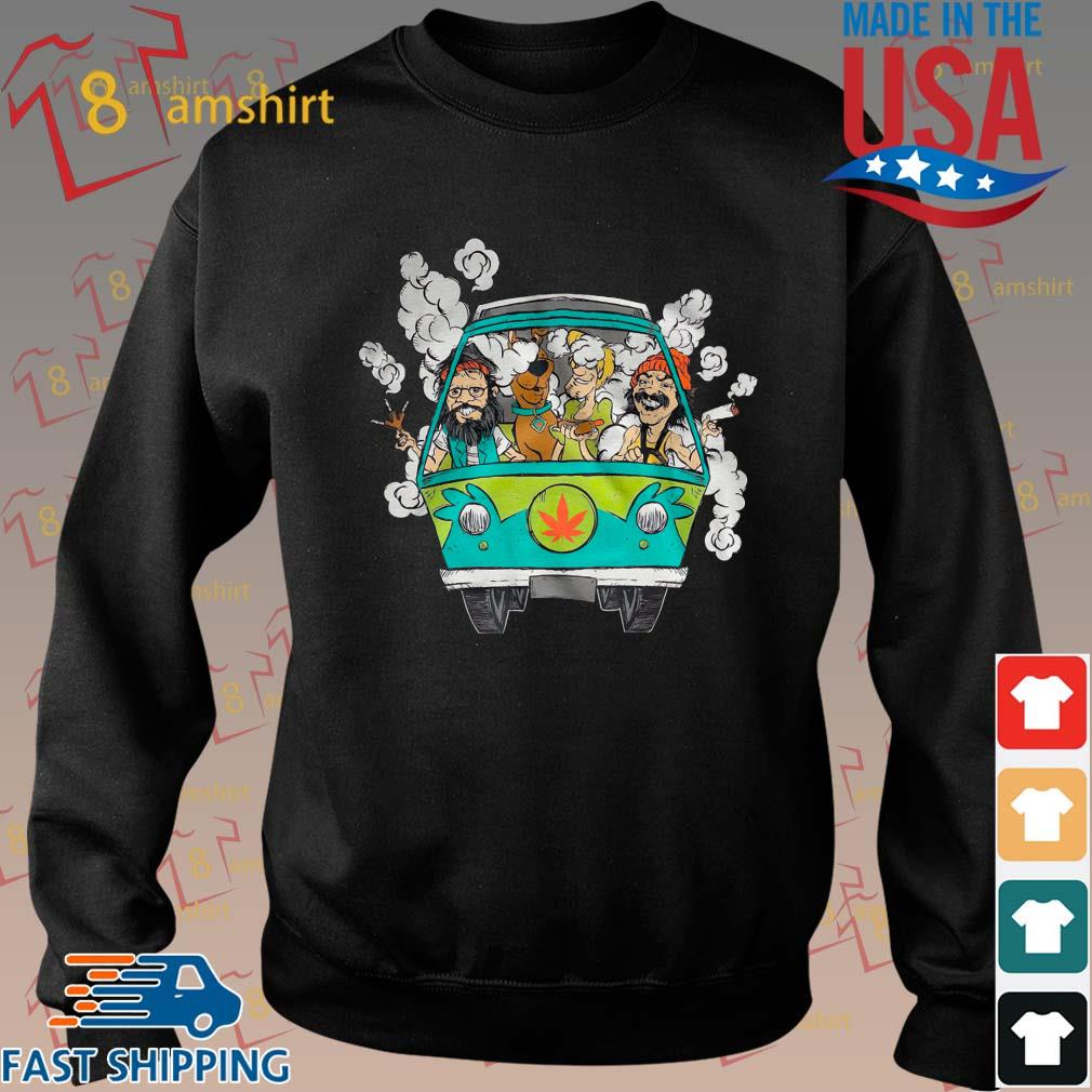 Peace Car Scooby Doo And Hippie Old Man Smoking Weed Shirts Sweater den